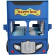 Patut in forma de masina Happy Bus culoare albastra