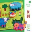 Puzzle Djeco - lemn si fetru Nouki - ferma