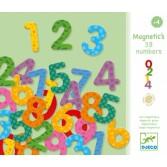 38 Cifre magnetice colorate pentru copii Djeco