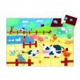 Puzzle Djeco - Ferma de animale
