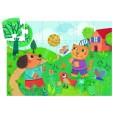 Puzzle Djeco - Catelul si pisica