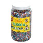 13.000 margele HAMA MIDI CU DUNGI MIX90 in borcan plastic