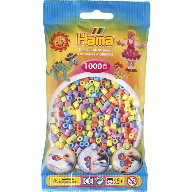 1000 margele HAMA MIDI MIX50 pastel in pungulita