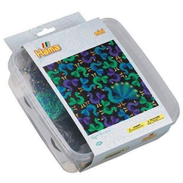 PASARI - 10.500 margele HAMA MINI in cutie de plastic
