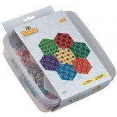 HEXAGON - 10500 margele HAMA MINI in cutie de plastic