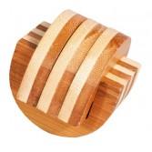 Joc logic IQ din lemn bambus Cleme