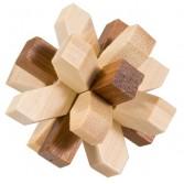 Joc logic IQ din lemn bambus în cutie metalică-321