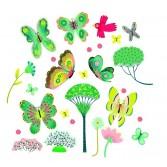 Abțibilduri Djeco pentru fereastră - fluturi în grădină