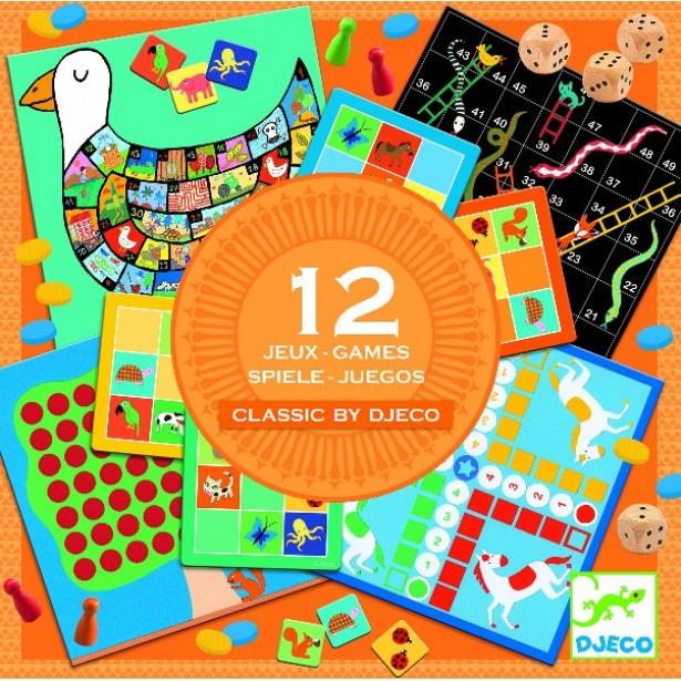 12 jocuri clasice Djeco