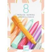 8 Culori gel pastel Djeco