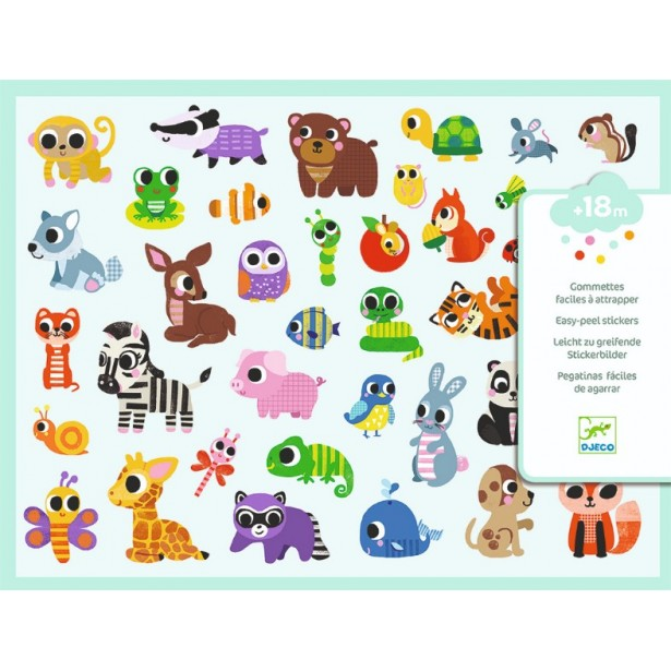 Abţibilduri Djeco - Baby animals - 306 buc