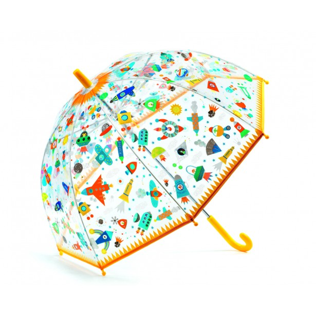Umbrela colorata Djeco - Nave si vehicule in zbor