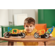 Set magnetic de construit - Magformers Vehicule, 17 piese - Clics toys