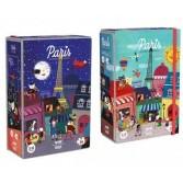 Puzzle reversibil Londji - Noapte si zi la Paris