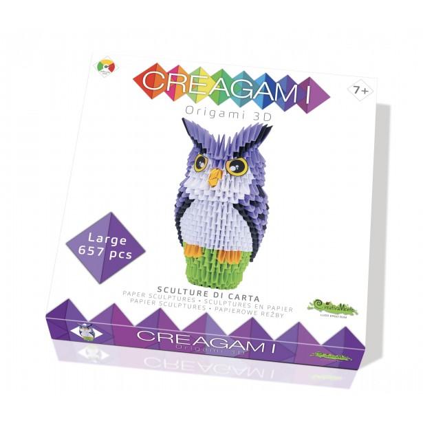 Origami 3d - Creagami bufnita, CreativaMente