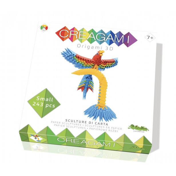 Origami 3d - Creagami papagal, CreativaMente