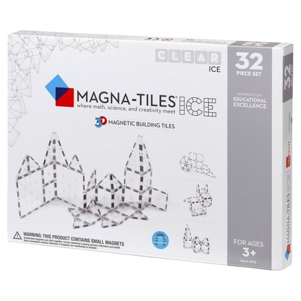 Magna-Tiles ICE Transparent set magnetic (32 piese)