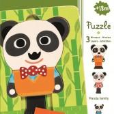 Puzzle straturi Djeco - familia de panda