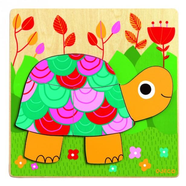 Puzzle Djeco - Testoasa colorata