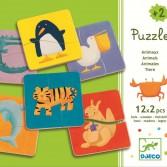 Puzzle lemn Djeco - Animale