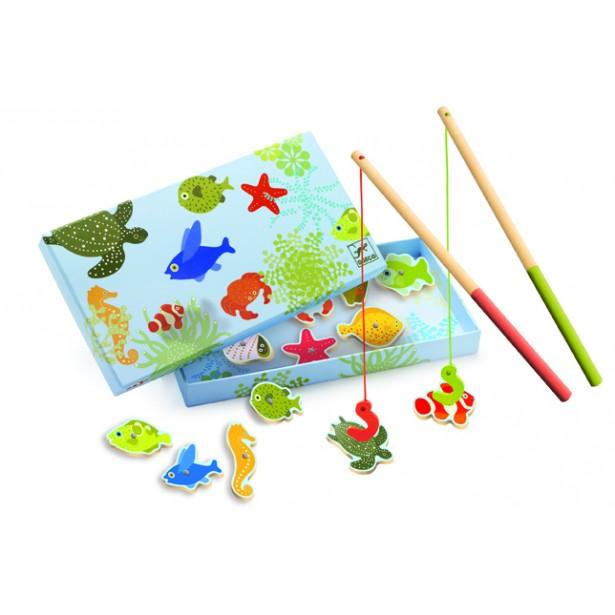 Joc de pescuit magnetic vietati marine Djeco