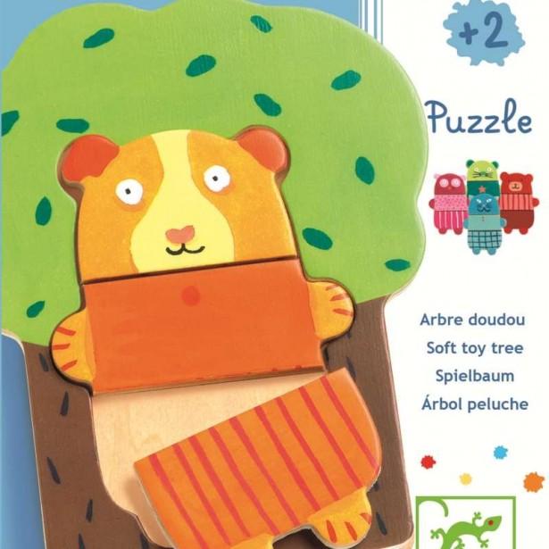Puzzle lemn Djeco - Copacelul vesel