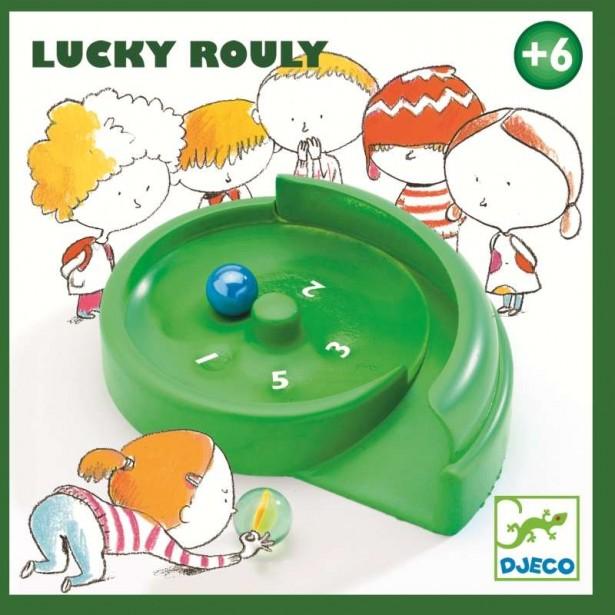 Miniruleta cu bile de sticla Djeco - Lucky Rouly