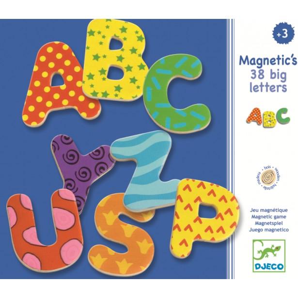 38 Litere magnetice colorate mari pentru copii Djeco