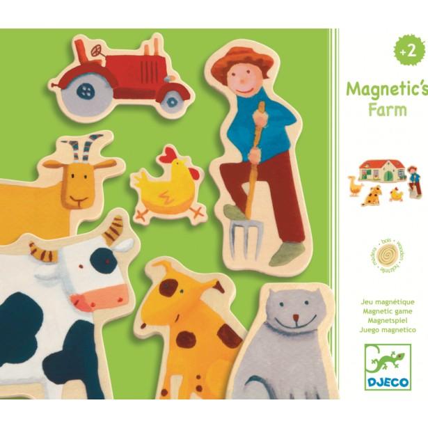 Joc cu magneti Djeco - Ferma
