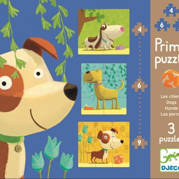 Set Puzzle-uri Djeco - Catei veseli