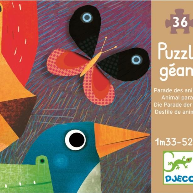 Puzzle gigant Djeco - Parada animalelor