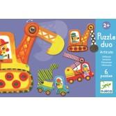 Puzzle duo mobil Djeco - vehicule