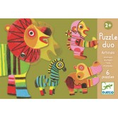 Puzzle duo mobil Djeco - animale