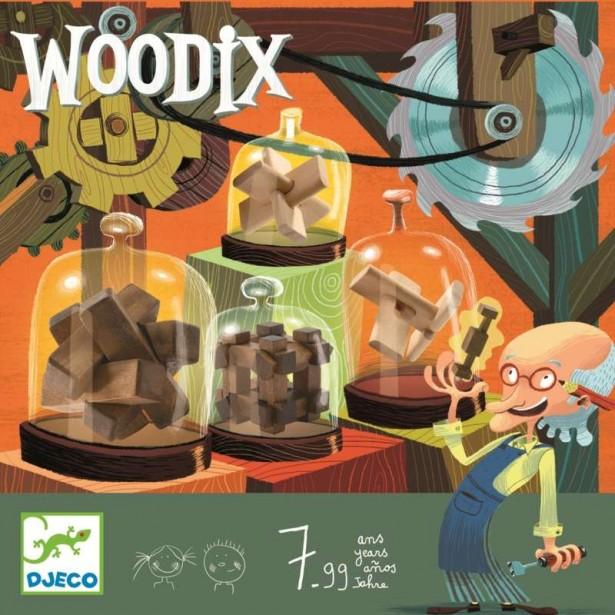 Jocuri logice din lemn Djeco - Woodix