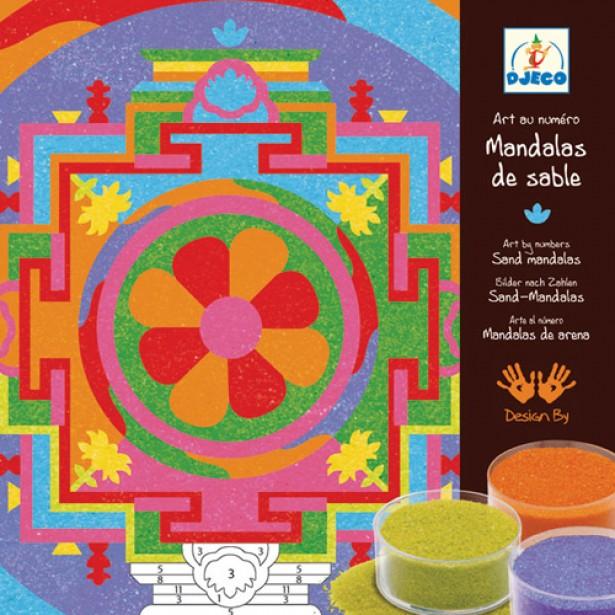Joc cu nisip colorat Djeco - Mandala tibetana