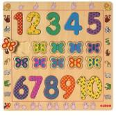 Puzzle din lemn Djeco - Cifre