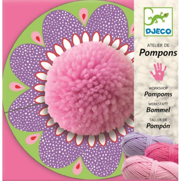Joc creativ de confectionat pompoane Djeco