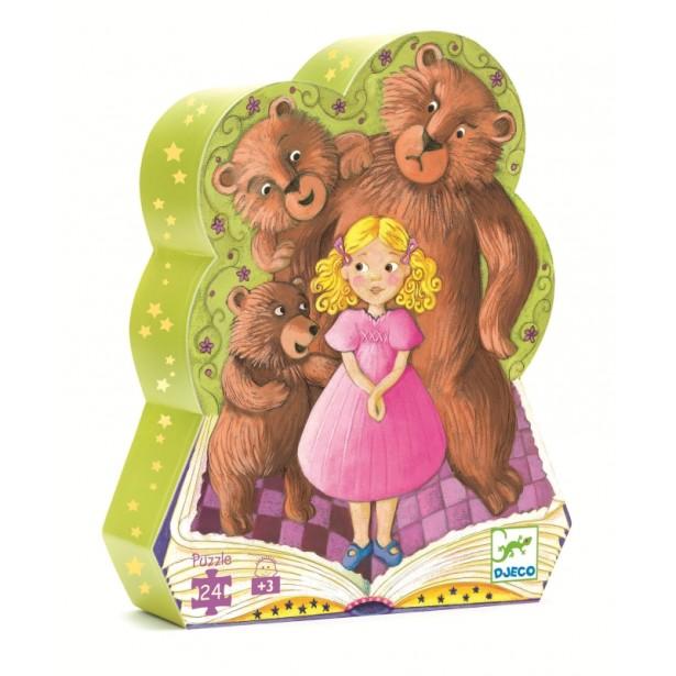 Puzzle Djeco - Bucle aurii si cei 3 ursuleti