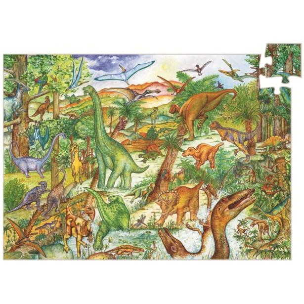 Puzzle observatie Djeco - Dinozauri