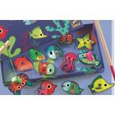 Joc de pescuit magnetic animale marine colorate Djeco