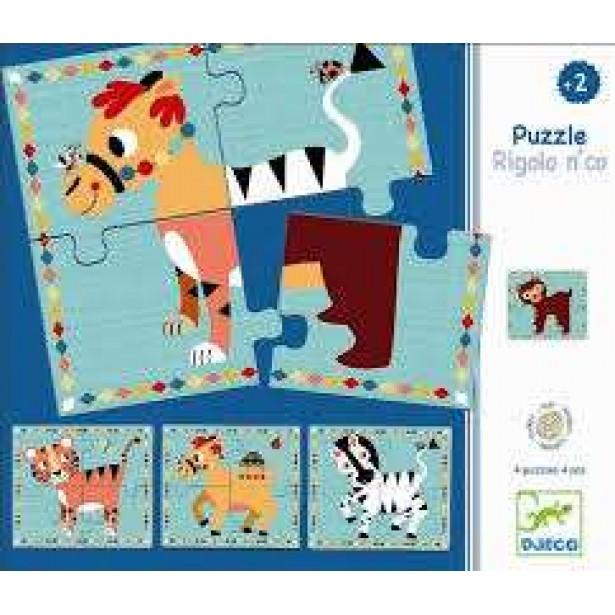 Puzzle interschimbabil Djeco - Rigolon Co
