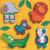 Puzzle Djeco - lemn si fetru - Jungla