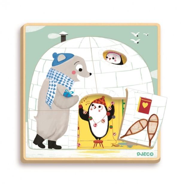 Puzzle straturi Djeco - Iglu