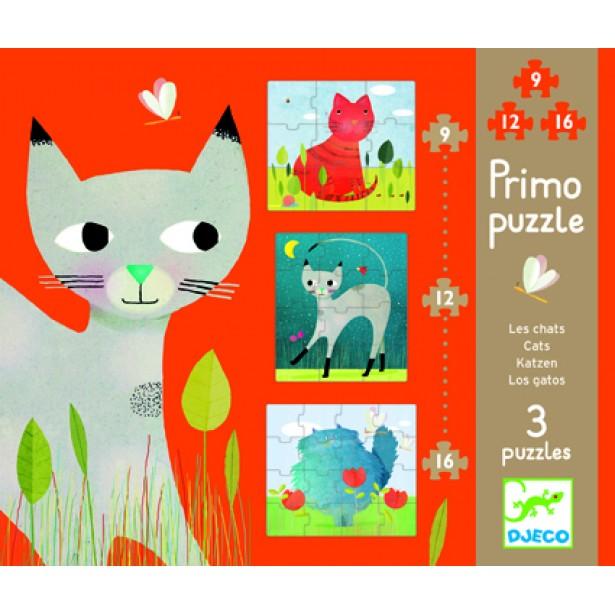 Set puzzle-uri progresive pisicute Djeco
