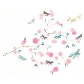 Abtibilduri de perete Djeco - Flori si libelule