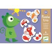 Puzzle trio Djeco culori