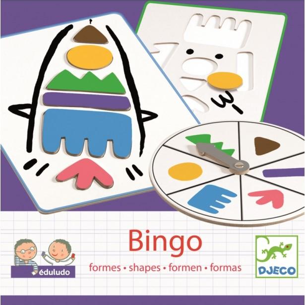 Bingo copii Djeco - invata forme