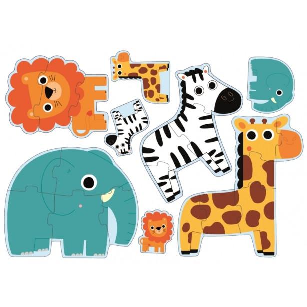Puzzle progresiv Djeco - in jungla