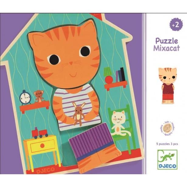Puzzle interschimbabil Djeco - Pisicute