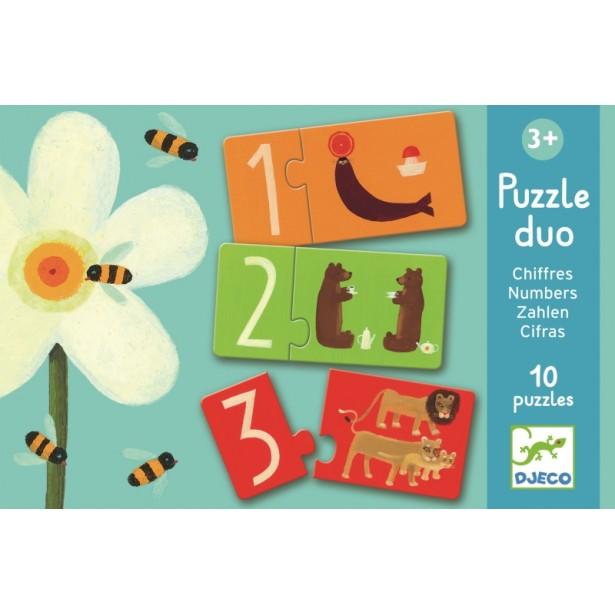 Puzzle duo Djeco - Numere